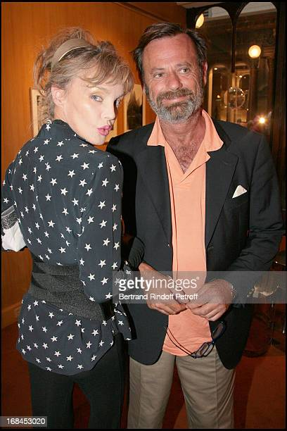 Arielle Dombasle and Louis Benech at Opening Exhibition of Photographs And Writings By Marina Cicogna At Galerie Du Passage In Paris .