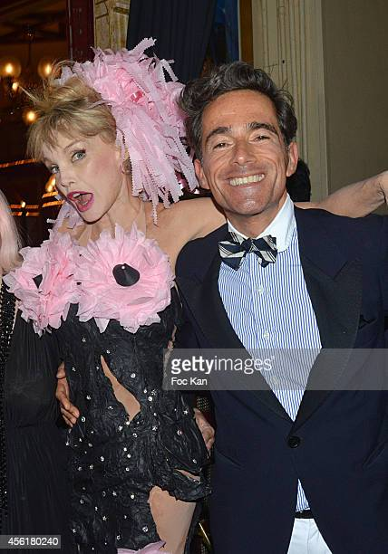 510e14debe71 Arielle Dombasle and Vincent Darre attend the Cabaret New Burlesque Show at  the Cirque D