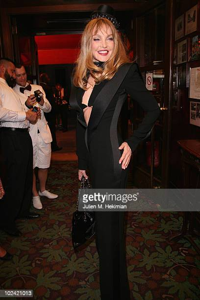 ACCESS *** Arielle Dombasle attends the Amfar inspiration night's auction at Maxim's on June 25 2010 in Paris France