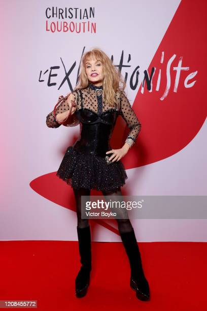 Arielle Dombasle attends the Exhibition Opening of L'Exibition[niste] by Christian Louboutin as part of Paris Fashion Week Womenswear Fall/Winter...