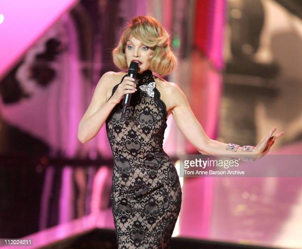 Arielle Dombasle during 'Miss France 2005' Pageant at Theatre Vinci in Tours France