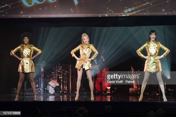 Arielle Dombasle Mareva Galanter Inna Modja et from Les Parisiennes perform at L'Olympia on December 19 2018 in Paris France