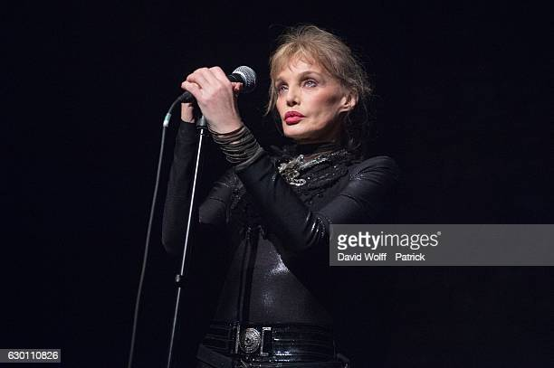 Arielle Dombasle performs at Cafe de la Danse on December 16 2016 in Paris France