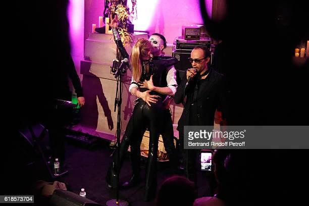 "Arielle Dombasle performs for the release of the Album ""La Riviere Atlantique"" - ""Noche de los muertos"" event during the ""Mexico 1900-1950""..."