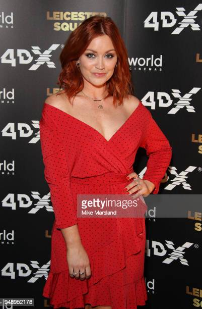 Arielle Free aattends the launch of Cineworlds new 4DX screen at Cineworld Leicester Square on April 19 2018 in London England