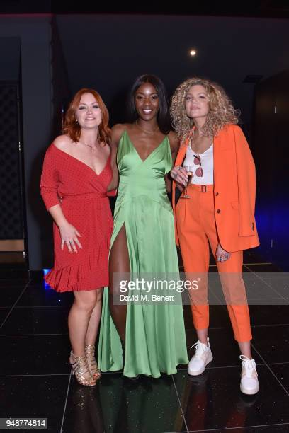 Arielle Free AJ Odudu and Becca Dudley attend a gala evening celebrating the brand new Cineworld Leicester Square featuring a screening of 'Rampage'...