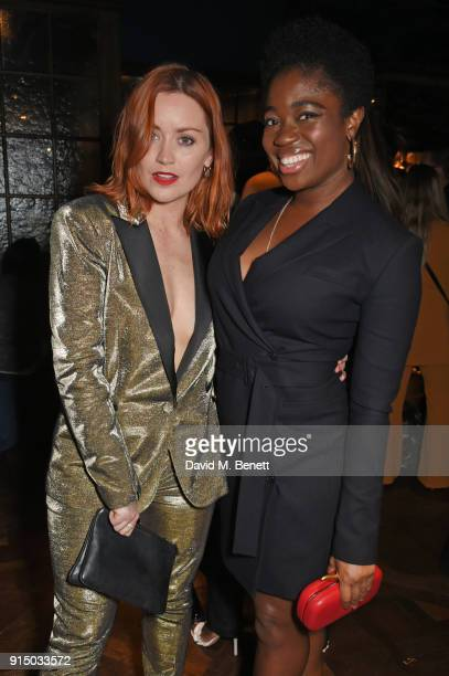 Arielle Free and Clara Amfo attend the InStyle EE Rising Star Party at Granary Square on February 6 2018 in London England