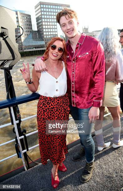 Arielle Free and Jack Saunders on board the Bud Boat for thei launch party hosted by Budweiser the Official Beer of the 2018 FIFA World Cup on June...
