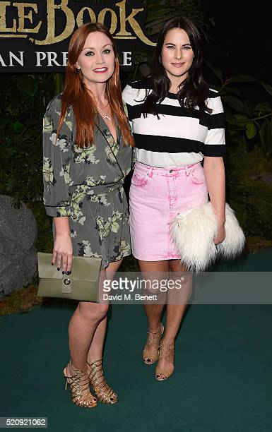 Arielle Free and Kat Shoob arrive for the European Premiere of 'The Jungle Book' at BFI IMAX on April 13 2016 in London England