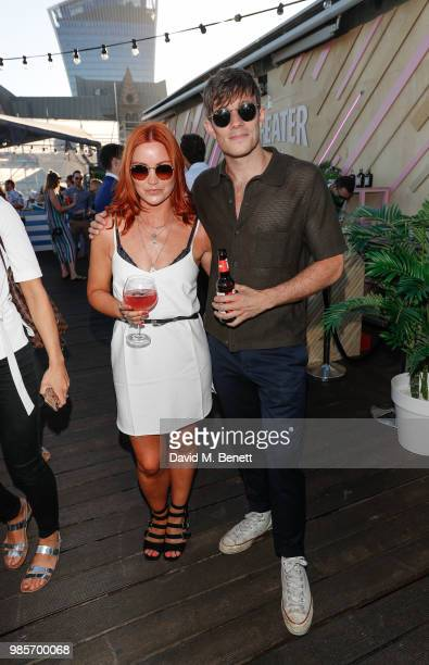 Arielle Free and Will Best attend the opening of new rooftop bar Savage Garden on June 27 2018 in London England