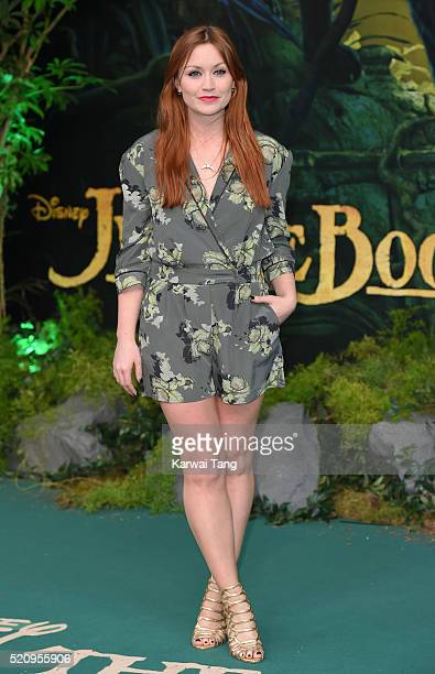 Arielle Free arrives for the European premiere of 'The Jungle Book' at BFI IMAX on April 13 2016 in London England