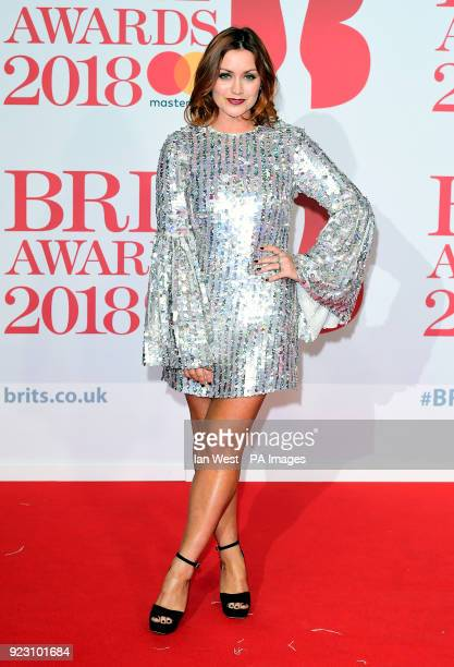 Arielle Free attending the Brit Awards at the O2 Arena London