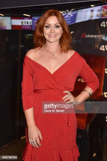 Arielle Free attends a gala evening celebrating the brand new Cineworld Leicester Square featuring a screening of 'Rampage' in 4DX on April 19 2018...