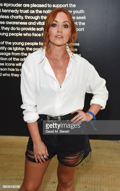 Arielle Free attends adidas 'Prouder' A Fat Tony Project in aid of the Albert Kennedy Trust supporting LGBT youth at Heni Gallery Soho on July 3 2018...