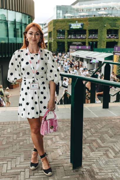 GBR: Celebrities Attend Day 6 Of Wimbledon 2019
