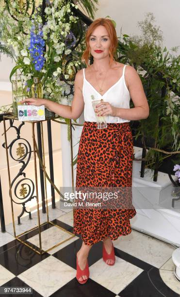 Arielle Free attends Maison St Germain x House of Holland Opening Night in Mayfair on June 14 2018 in London England