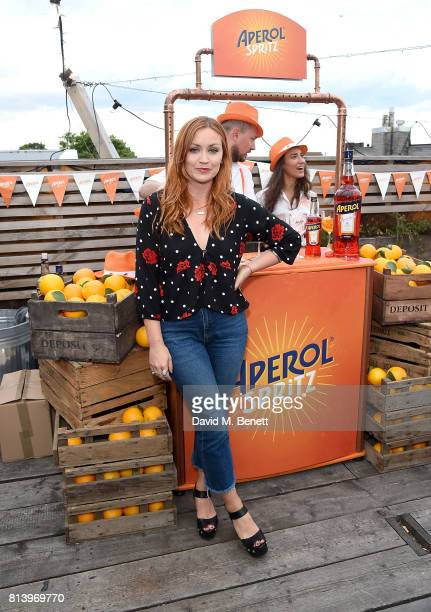 Arielle Free attends the Aperol Spritz Social on July 13 2017 in London England