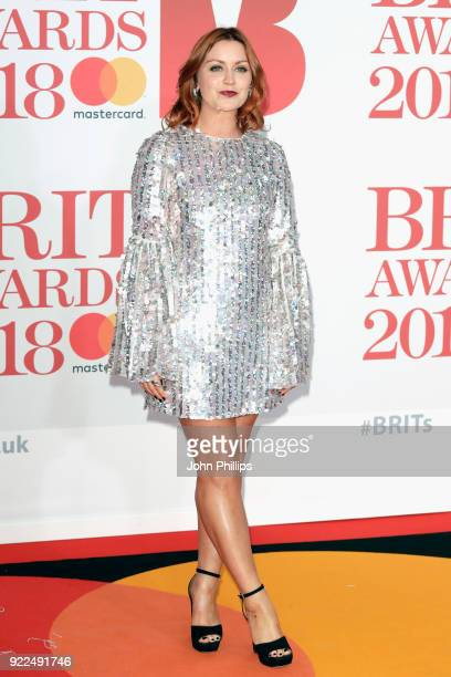 AWARDS 2018*** Arielle Free attends The BRIT Awards 2018 held at The O2 Arena on February 21 2018 in London England