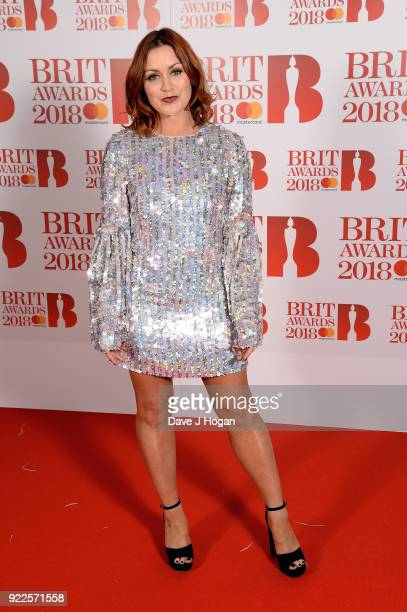AWARDS 2018 *** Arielle Free attends The BRIT Awards 2018 held at The O2 Arena on February 21 2018 in London England