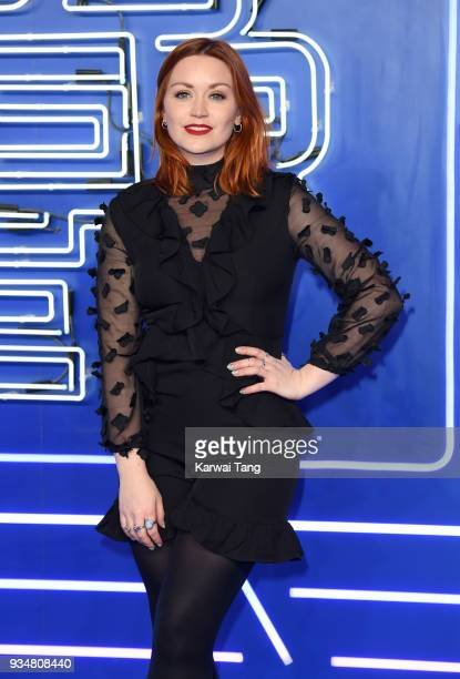 Arielle Free attends the European Premiere of 'Ready Player One' at Vue West End on March 19 2018 in London England