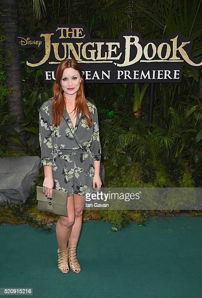 Arielle Free attends the European Premiere of The Jungle Book at BFI IMAX on April 13 2016 in London England