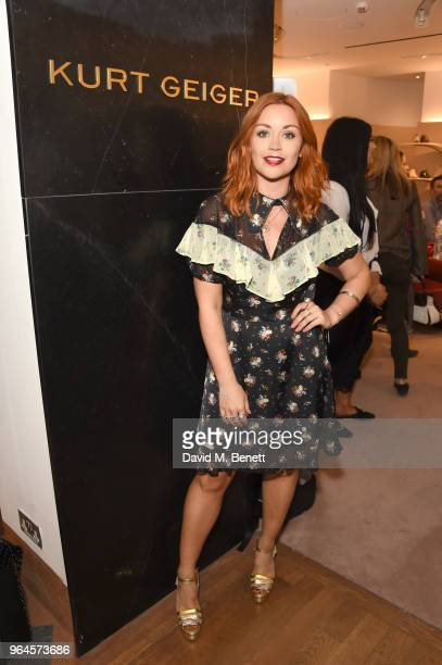 Arielle Free attends the Kurt Geiger London Boutique launch at Selfridges on May 31 2018 in London England