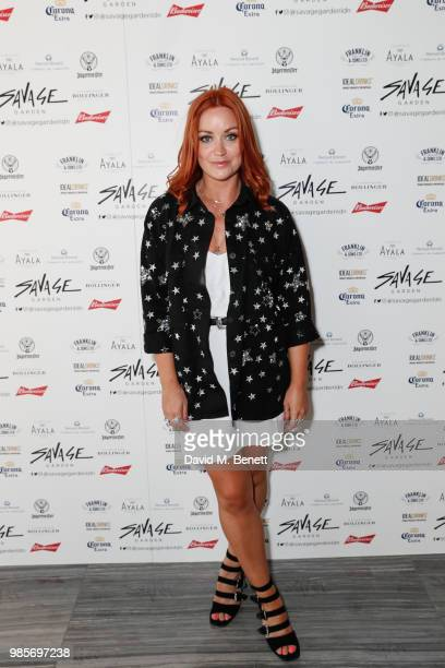Arielle Free attends the opening of new rooftop bar Savage Garden on June 27 2018 in London England