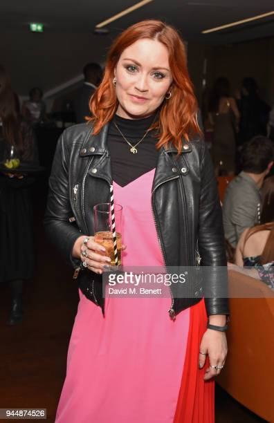 Arielle Free attends the Pimm's No6 Vodka Cup official launch party at 12 Golden Square on April 11 2018 in London England Pimm's No6 and oysters...