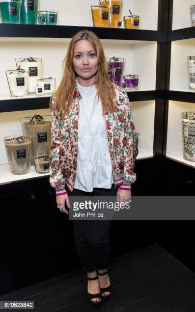 Arielle Free attends the UK flagship store opening of luxury Parisian candle and home fragrance brand Baobad on Walton Street on April 20 2017 in...
