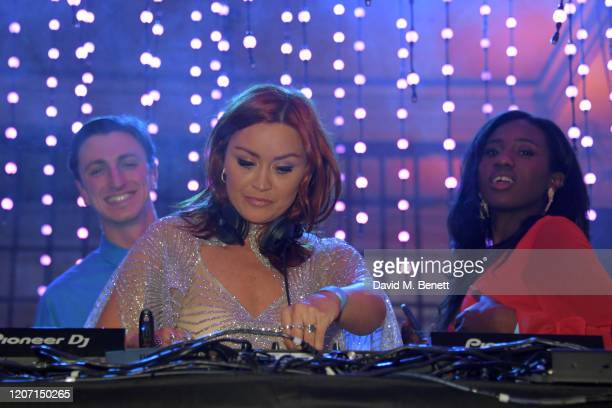 Arielle Free attends the Universal Music BRIT Awards afterparty 2020 hosted by Soho House PATRÓN at The Ned on February 18 2020 in London England