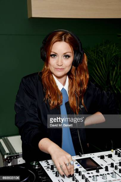 Arielle Free DJ's at the Lacoste VIP Exhibition Launch Westfield London at Westfield London on June 7 2017 in London England