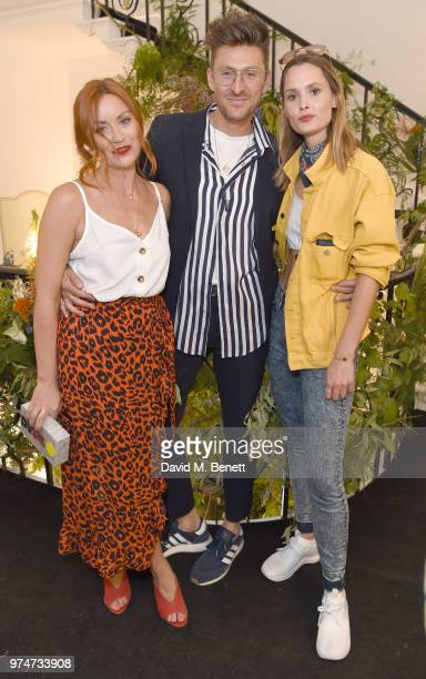 Arielle Free Henry Holland and Charlotte de Carle attends Maison St Germain x House of Holland Opening Night in Mayfair on June 14 2018 in London...