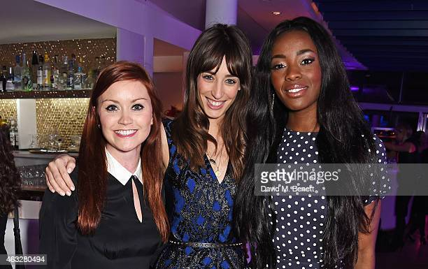 Arielle Free Laura Jackson and AJ Odudu attend a cocktail party hosted by haircare brand John Frieda to celebrate the launch of their 2015 products...