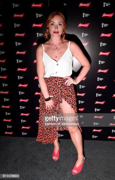 Arielle Free on board the Bud Boat for thei launch party hosted by Budweiser the Official Beer of the 2018 FIFA World Cup on June 14 2018 in London...