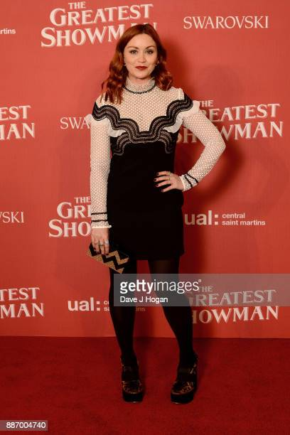 Arielle Free poses during 'The Greatest Showman' Central Saint Martins collection showcase at Claridges Hotel on December 6 2017 in London England
