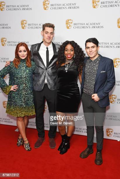 Arielle Free Sam Homewood London Hughes and Luke Franks attend the BAFTA Children's Awards at The Roundhouse on November 26 2017 in London England