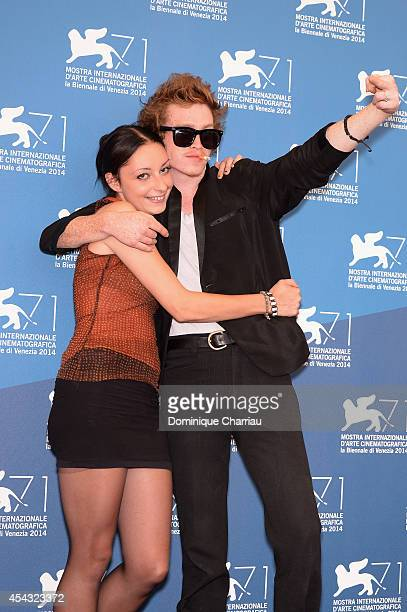 Arielle Holmes and Caleb Landry Jones attend the 'Heaven Knows What' photocall during the 71st Venice Film Festival on August 29 2014 in Venice Italy