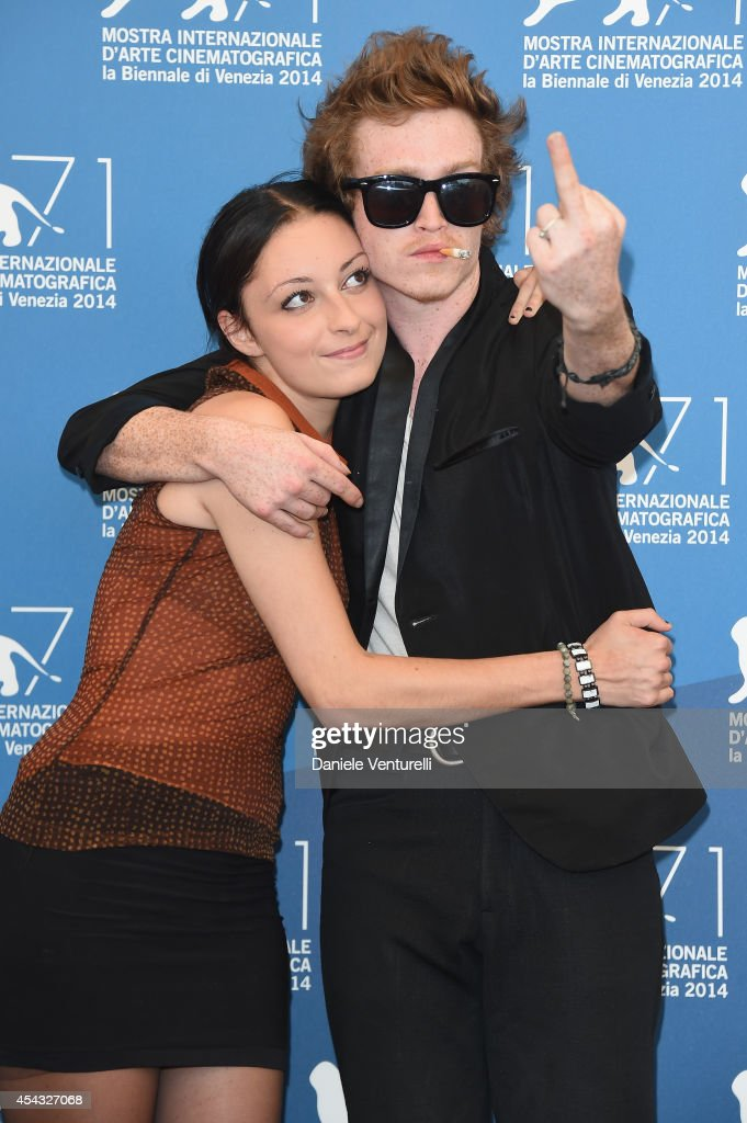 Arielle Holmes and Caleb Landry Jones attend the 'Heaven Knows What' photocall during the 71st Venice Film Festival on August 29, 2014 in Venice, Italy.