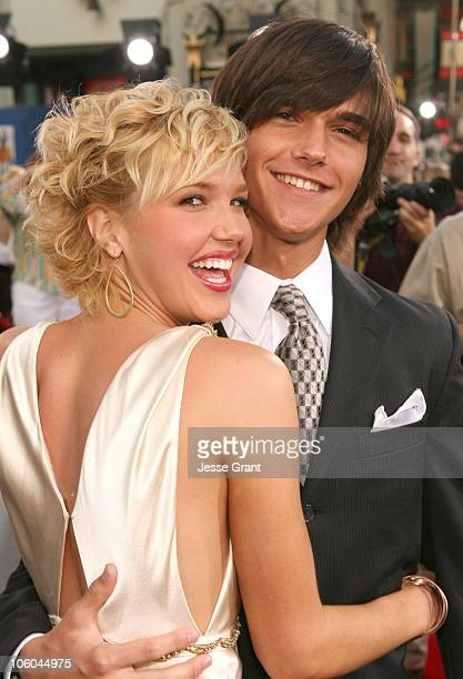 Arielle Kebbel and brother Christian during John Tucker Must Die Los Angeles Premiere Red Carpet at Mann's Chinese Theater in Hollywood California...