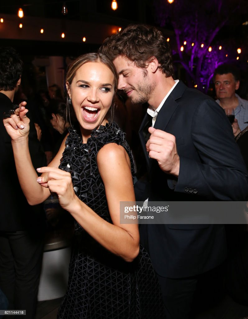 Arielle Kebbel (L) and Francois Arnaud at Entertainment Weekly's annual Comic-Con party in celebration of Comic-Con 2017 at Float at Hard Rock Hotel San Diego on July 22, 2017 in San Diego, California.