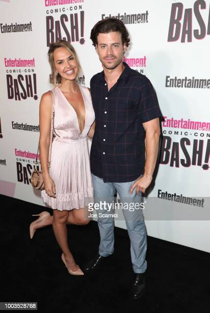 Arielle Kebbel and Francois Arnaud attend Entertainment Weekly's ComicCon Bash held at FLOAT Hard Rock Hotel San Diego on July 21 2018 in San Diego...