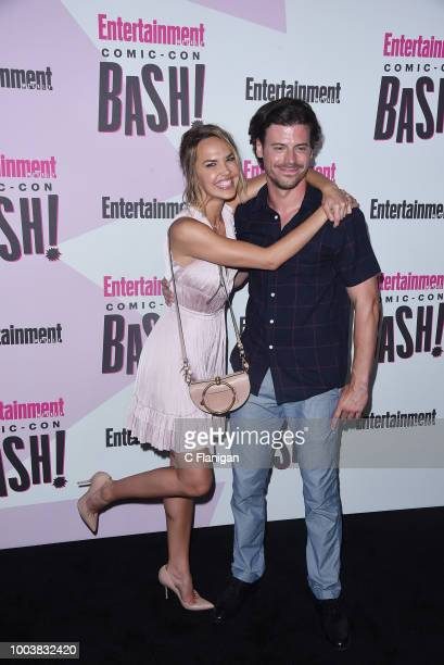 Arielle Kebbel and Francois Arnaud attend the annual Entertainment Weekly Comic-Con Celebration at Float at Hard Rock Hotel San Diego on July 21,...