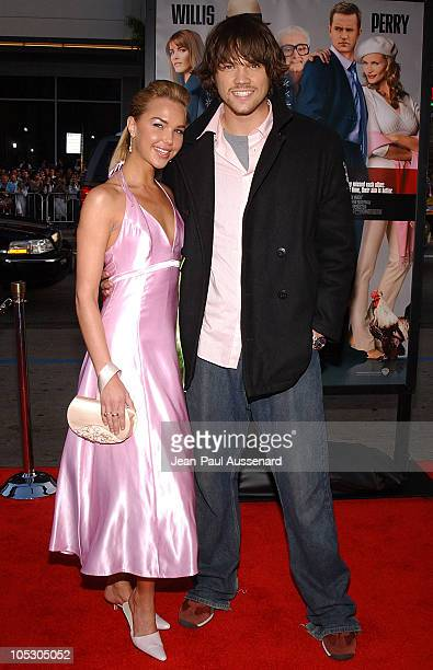Arielle Kebbel and Jared Padalecki during 'The Whole Ten Yards' World Premiere Arrivals at Chinese Theatre in Hollywood California United States