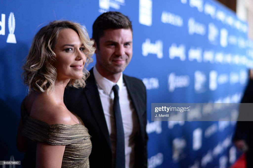 Arielle Kebbel (L) and Sterling Jones attend the 29th Annual GLAAD Media Awards at The Beverly Hilton Hotel on April 12, 2018 in Beverly Hills, California.