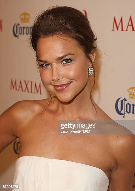Arielle Kebbel arrives at Maxim's 10th Annual Hot 100 Celebration Presented by Dr Pepper Cherry True Religion Brand Jeans Stolichnaya Vodka and...