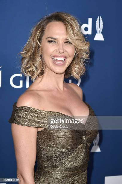 Arielle Kebbel attends the 29th Annual GLAAD Media Awards Arrivals at The Beverly Hilton Hotel on April 12 2018 in Beverly Hills California