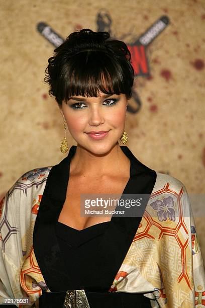 Arielle Kebbel attends the fuse Fangoria Chainsaw Awards at the Orpheum Theater on October 15 2006 in Los Angeles California The awards will premiere...
