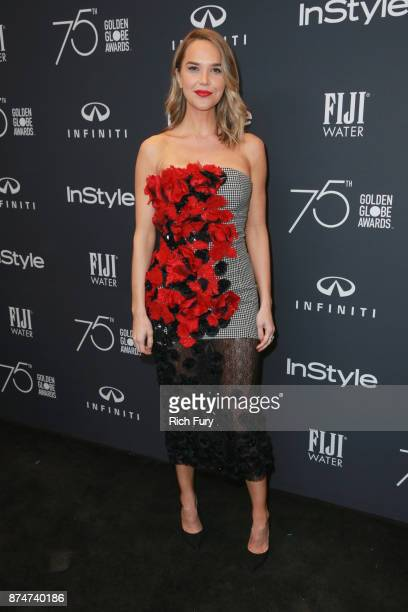 Arielle Kebbel attends the Hollywood Foreign Press Association and InStyle celebrate the 75th Anniversary of The Golden Globe Awards at Catch LA on...