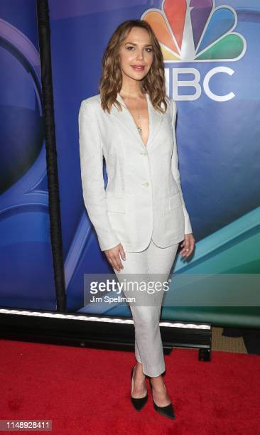 Arielle Kebbel attends the NBC 2019/20 Upfront at Four Seasons Hotel New York on May 13 2019 in New York City