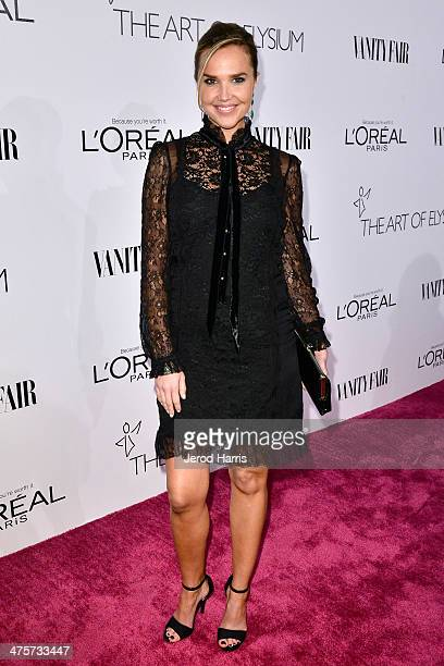 Arielle Kebbel attends the Vanity Fair Campaign Hollywood Kick Off at Sadie Kitchen and Lounge on February 28 2014 in Los Angeles California